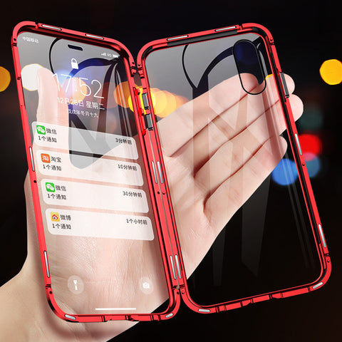 Double Sided Magnetic Adsorption Case For iPhone XS MAX X XR 8 7 Plus 6 6s