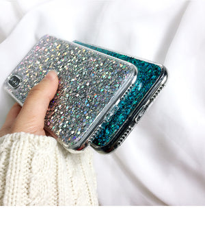 Crystal Sequins Soft Phone Case For iPhone