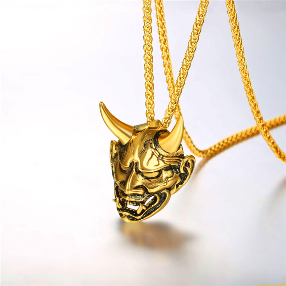 Demon horn devil necklace