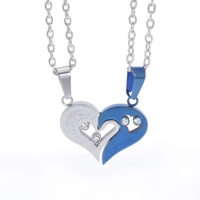 Couples Heart Necklace