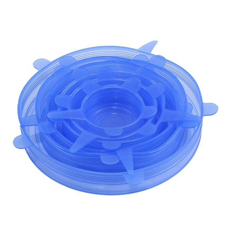 Silicone Stretch Lids Various Sizes 6 Pcs