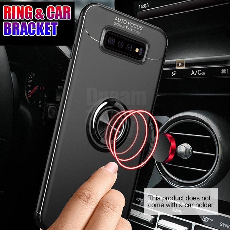 Metal Ring Case For Samsung Galaxy S8 S9 Plus S10 S10 Lite S10E S10 Plus Note 8 9