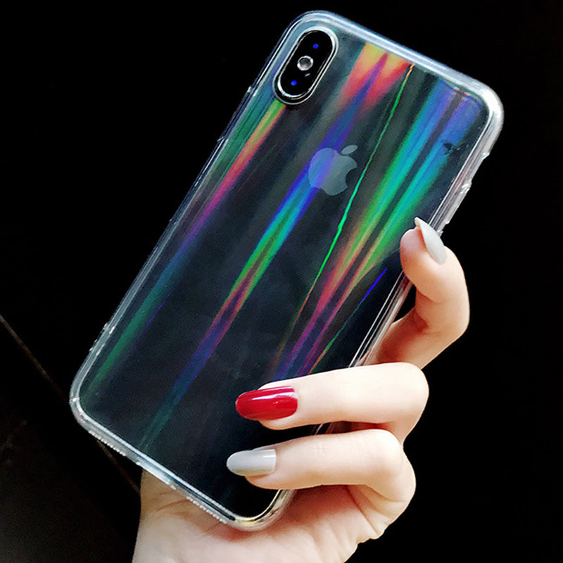 Rainbow Laser Clear Case