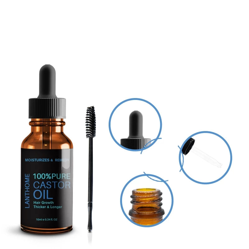 Hair & Eyes Lashes Growth Castor Oil
