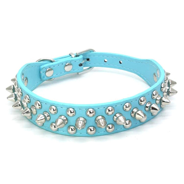 Leather Rivet Spiked Studded Pet Puppy Dog Collar Neck Strap
