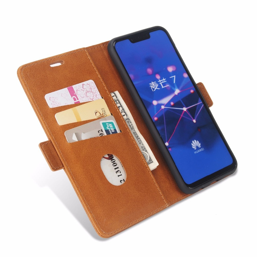 Leather Phone Case For Huawei Mate