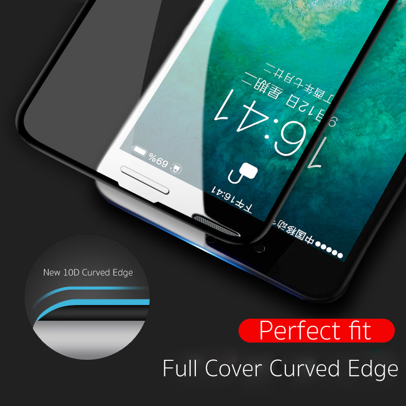 10D protective glass for iPhone X XS 6 6S 7 8 plus glass screen protector for iPhone 7 6 X XR XS MAX