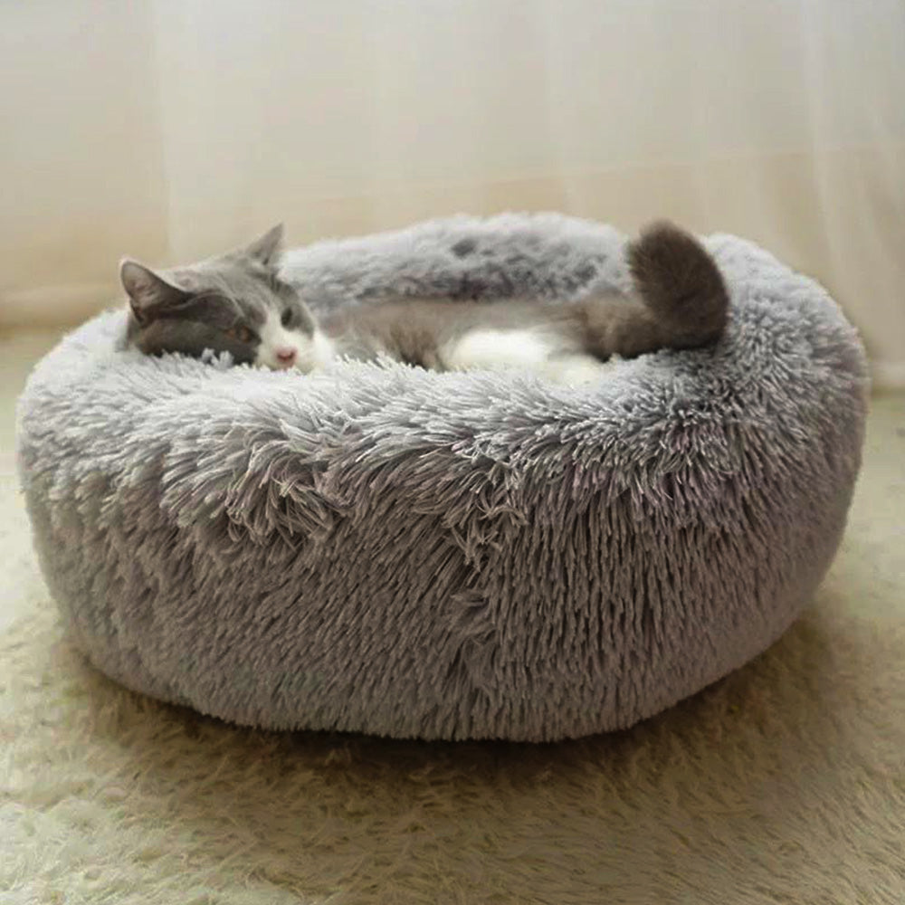 Round Winter Warm Sleeping Beds for Pets