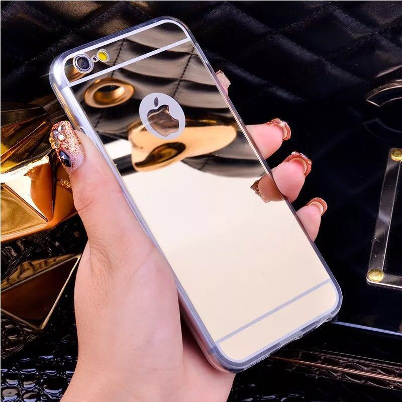 Special Mirror Case For iPhone 8 7 6 6S Plus X XR XS MAX Back Cover Fashion Plating Acrylic Cases