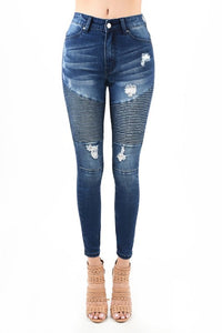 High waisted Dark blue Jeans