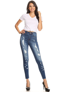 High waisted cropped Jeans