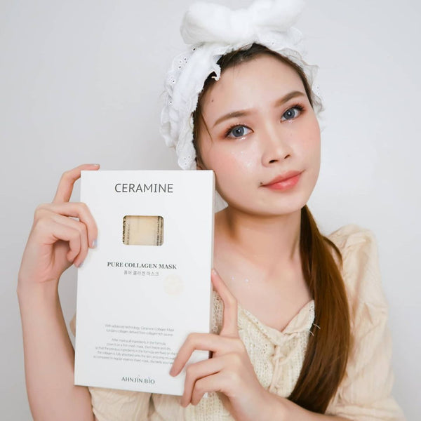Ceramine Pure Collagen Mesh Sheet⁣⁣ Review by Indonesian Beauty Blogger