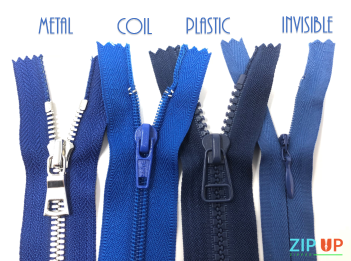 The Different Zipper Types: Metal, Coil, Plastic Molded, Invisible, and How To DIY Shorten
