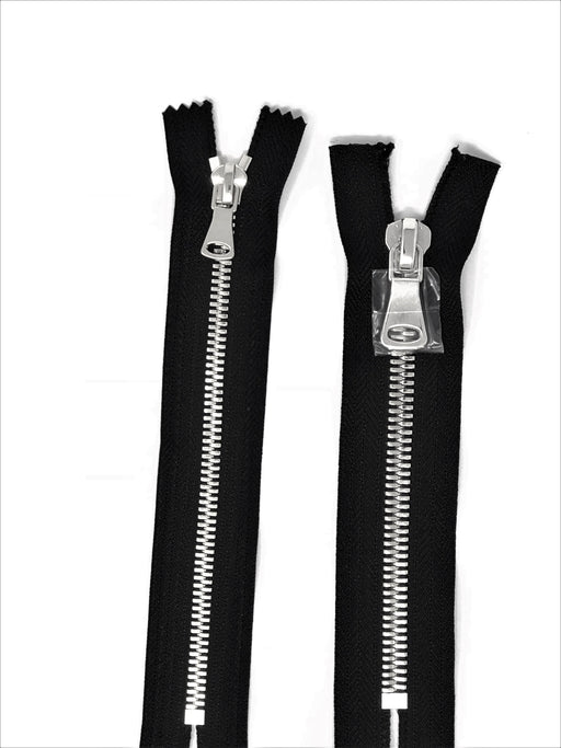 Wholesale Black Glossy Pocket Zipper Silver Teeth 5MM or 8MM in 7 inches Closed Non Separating - ZipUpZipper