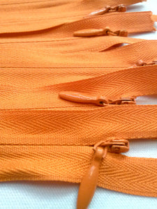 Orange Invisible Zippers 12 Inches Color 234