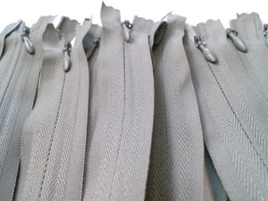 Light Grey Invisible Zippers 14 Inches Color 135