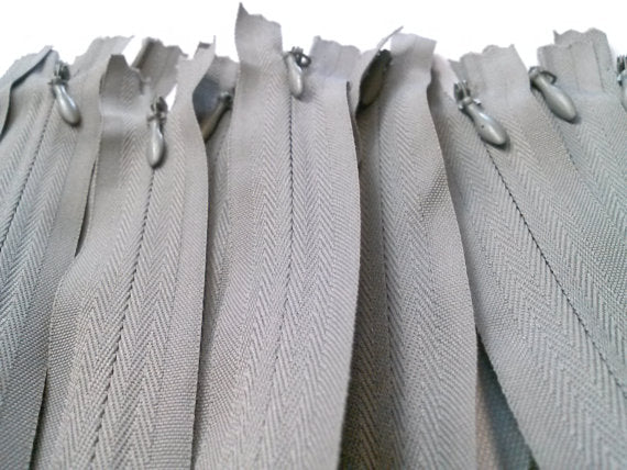 Light Grey Invisible Zippers 14 Inches Color 135 - ZipUpZipper