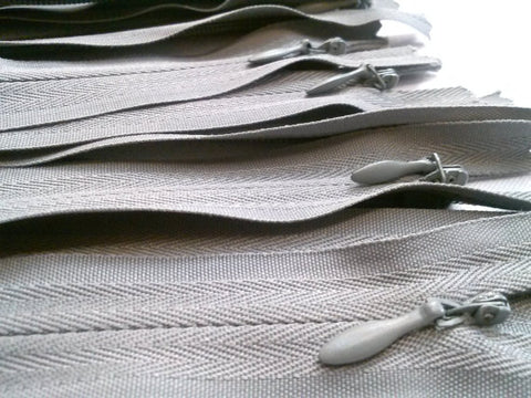 Wholesale Light Grey Invisible Zippers Color 135 - Choose Length - - ZipUpZipper