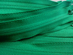 Dark Green Invisible Zippers 13 Inches Color 876