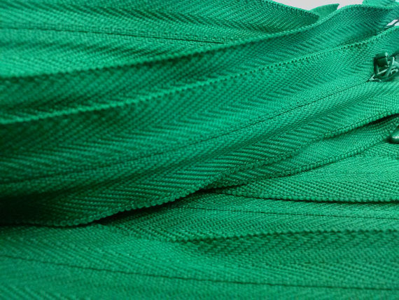 Dark Green Invisible Zippers 13 Inches Color 876 - ZipUpZipper
