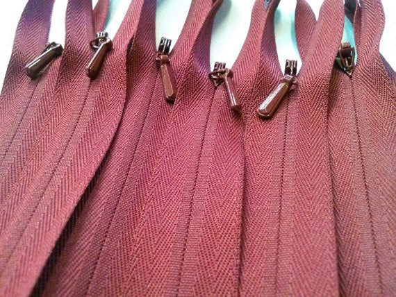 Wholesale Burgundy Invisible Zippers Color 021 - Choose Length - - ZipUpZipper