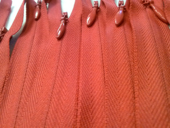 Wholesale Red Invisible Zippers Color 519 - Choose Length- - ZipUpZipper