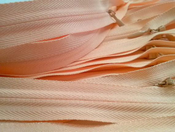 Wholesale Light Peach Invisible Zippers Color 521- Choose Length - - ZipUpZipper