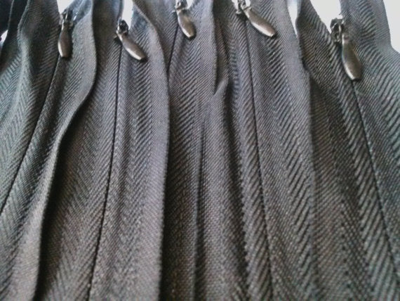 Wholesale Black Invisible Zippers Color 580 - Choose Length - - ZipUpZipper