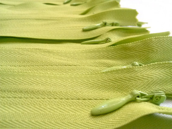 Light Green Invisible Zippers 14 Inches Color 874 - ZipUpZipper