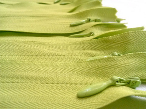 Wholesale Light Green Invisible Zippers Color 874 - Choose Length - - ZipUpZipper