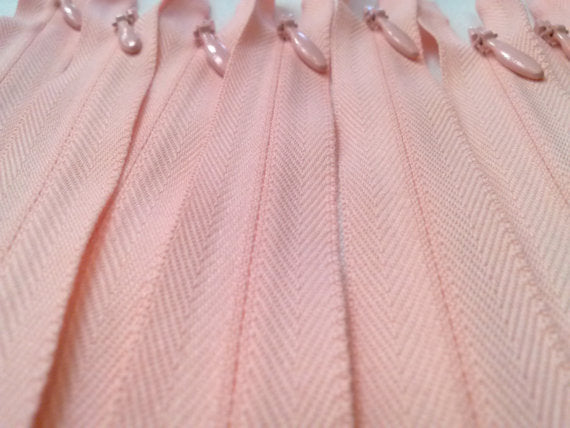 Pink Invisible Zippers 15 Inches Color 851 - ZipUpZipper