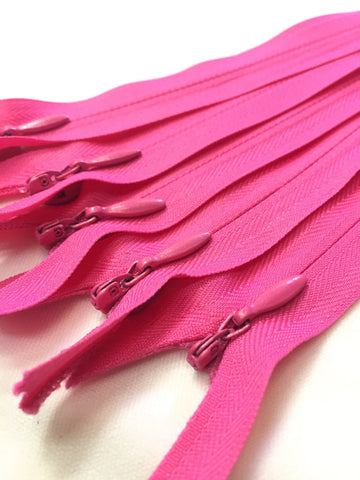 Hot Pink Invisible Zippers 8 Inches Color 354 - ZipUpZipper