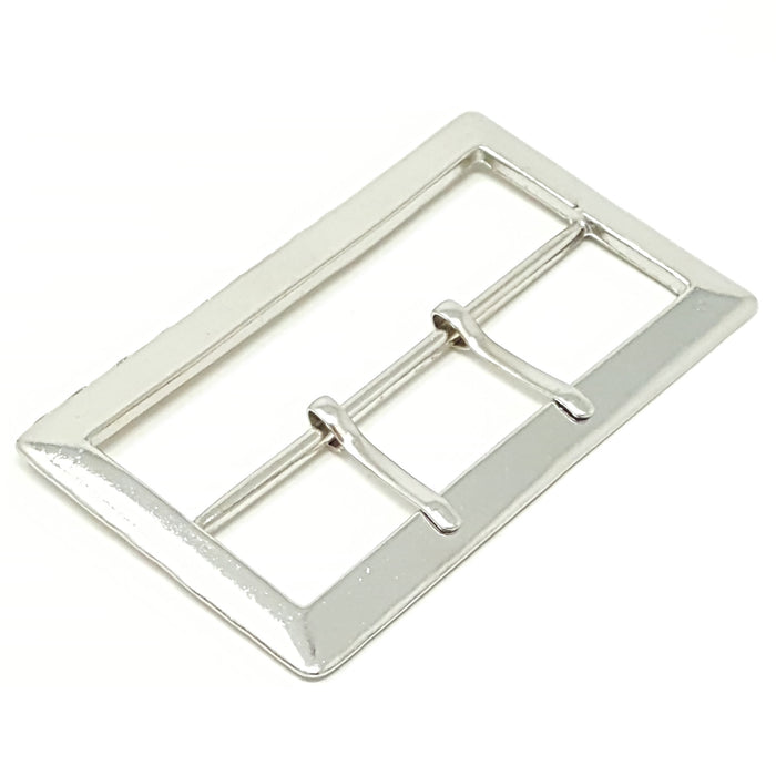 Silver Rectangular Belt Buckle 3.5 inches