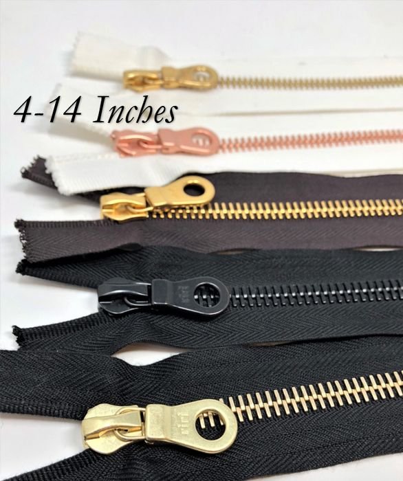 Riri 8MM Closed Bottom Zipper 4-14 inches -Choose Your Color- Choose Your Length-