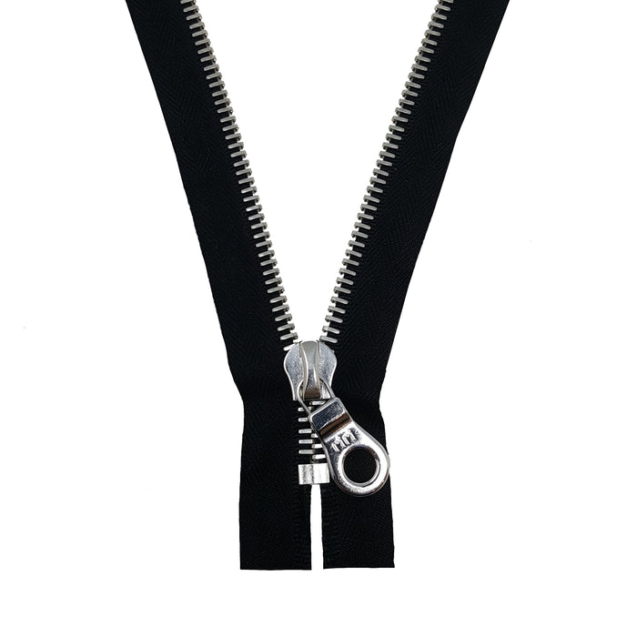 Riri 6MM Closed Bottom Zipper with KTA Pull, Black/Nickel
