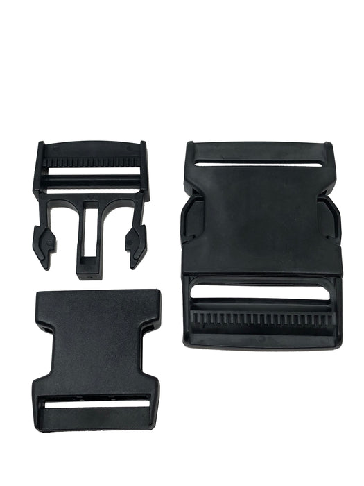 Black Plastic Buckles 1.5 Inch or 2 Inch with Side Release