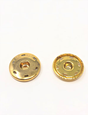 Brass Metal Snaps Sew-On 6 HOLE 1 1/4