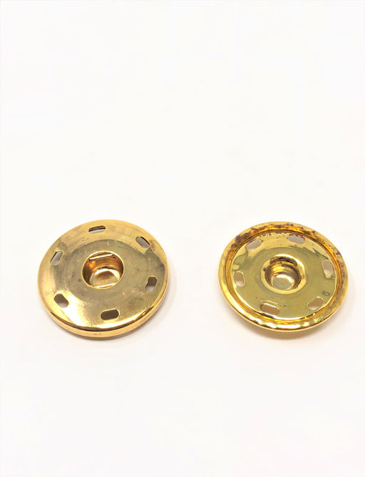 "Brass Metal Snaps Sew-On 6 HOLE 1 1/4"" Wide - Choose Quantity - ZipUpZipper"