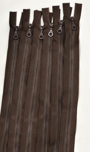 Brown Riri Zipper Plastic Molded 18 Inches D4 Open Separating Bottom