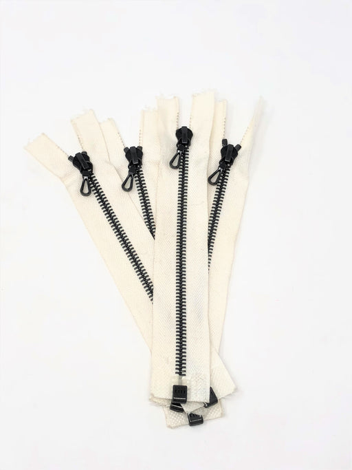 Off White Riri 7 Inches 6MM Black Teeth Open Bottom - ZipUpZipper
