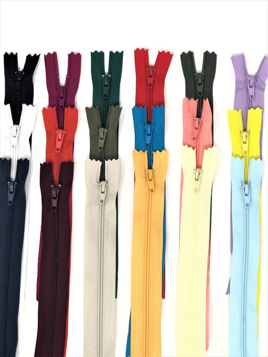 Nylon Zippers 16 Inches Coil #3 Closed Bottom - ZipUpZipper