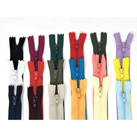 Nylon Zippers 20 Inches Coil #3 Closed Bottom - ZipUpZipper