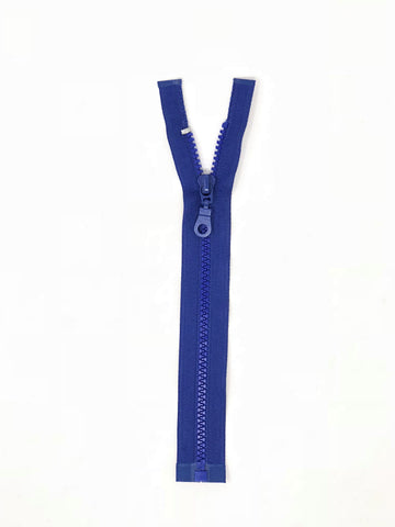 Royal Blue Plastic Molded Jacket Zipper 9 inches 5MM Open Bottom - ZipUpZipper