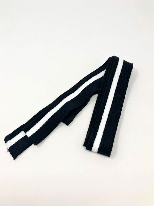 Wholesale Rib Knit Cotton Stripe Black and White - ZipUpZipper