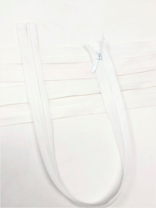 White Invisible Zippers - Choose Length - - ZipUpZipper