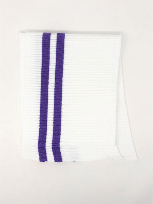 Wholesale Rib Knit Cotton Stripe White / Purple Stripes - ZipUpZipper