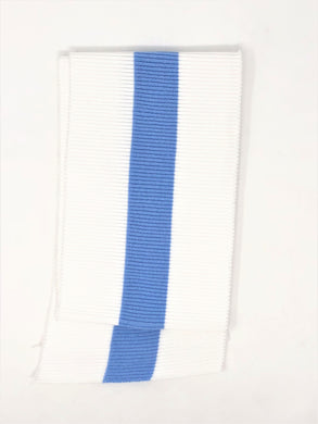 Wholesale Rib Knit Fabric Cotton White with Baby Blue Stripe