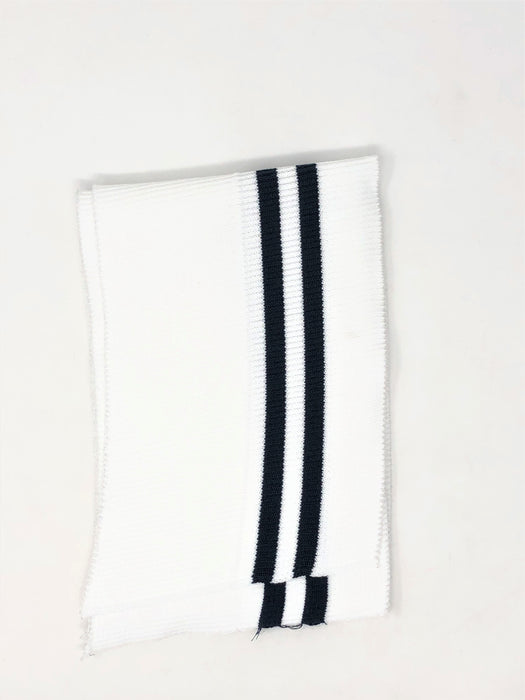 Wholesale Rib Knit Fabric Cotton White / Navy Stripes - ZipUpZipper