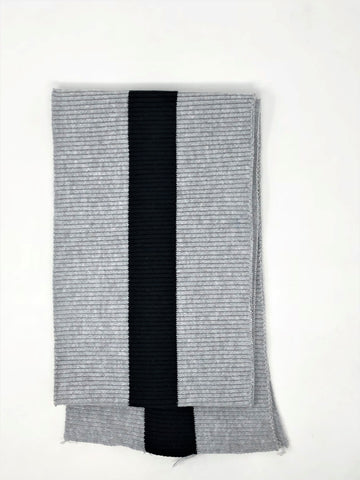 Wholesale Rib Knit Fabric Grey / Black Stripe - ZipUpZipper