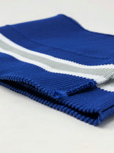 Wholesale Rib Knit Fabric Polyester Royal Blue /White Grey Stripes